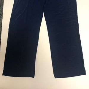 Travelers by Chicos Indigo Blue Knit Pants, Size 2